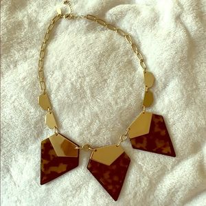 Layered Tortoise Shell Diamond Necklace